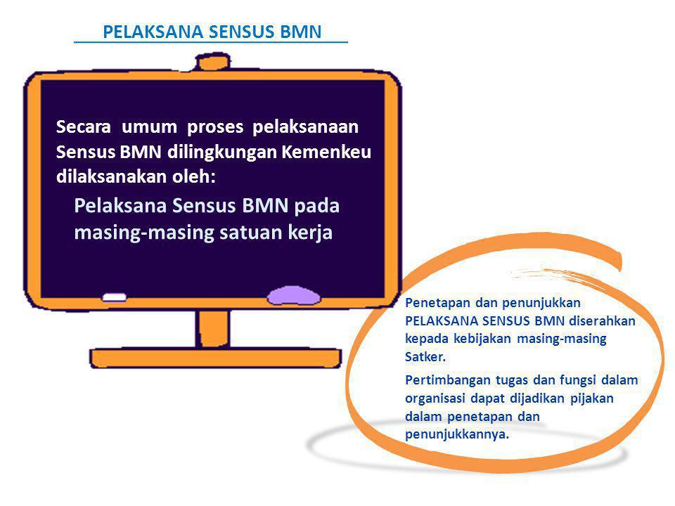Pelaksana Sensus BMN pada masing-masing satuan kerja