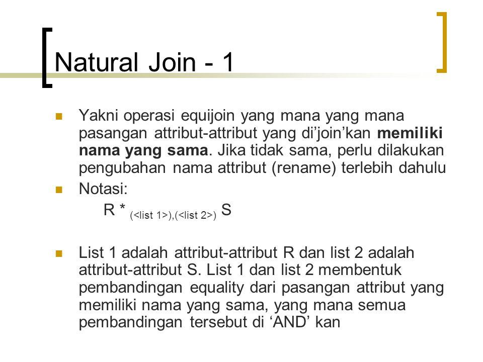 Natural Join - 1