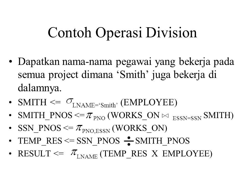 Contoh Operasi Division