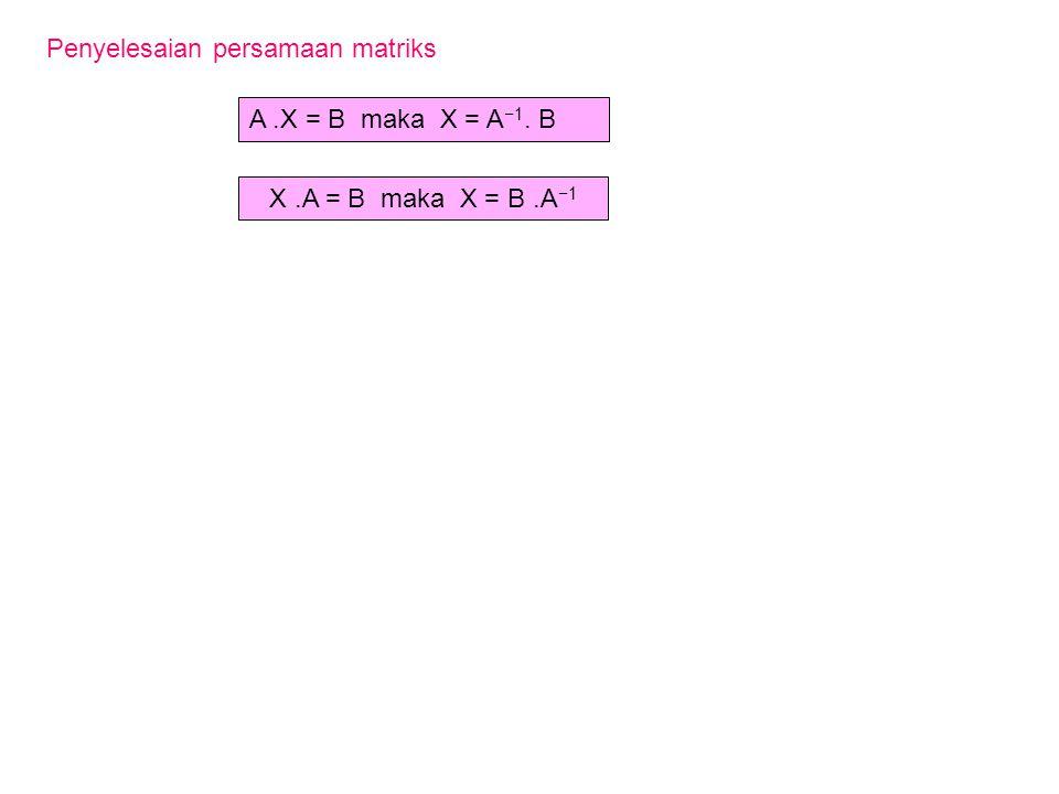 Penyelesaian persamaan matriks