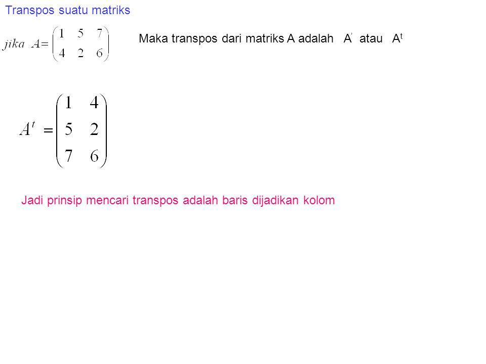 Transpos suatu matriks