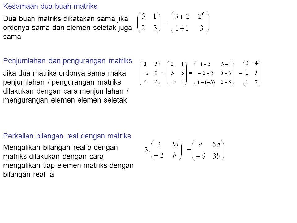 Kesamaan dua buah matriks