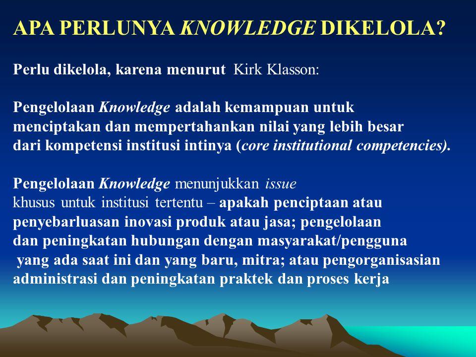 APA PERLUNYA KNOWLEDGE DIKELOLA