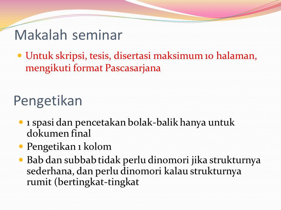 Makalah seminar Pengetikan