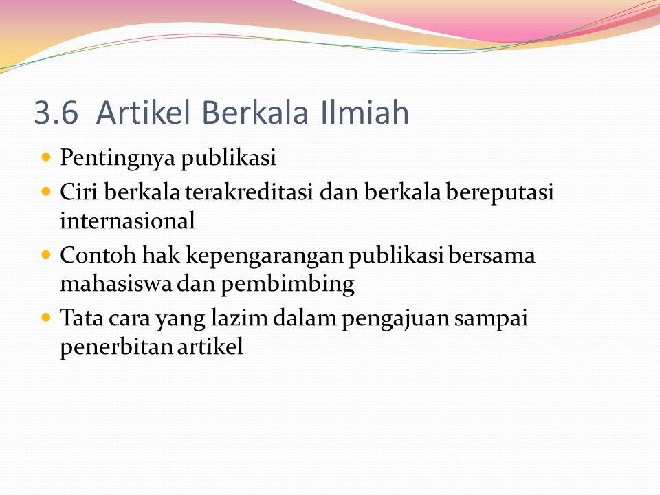 3.6 Artikel Berkala Ilmiah