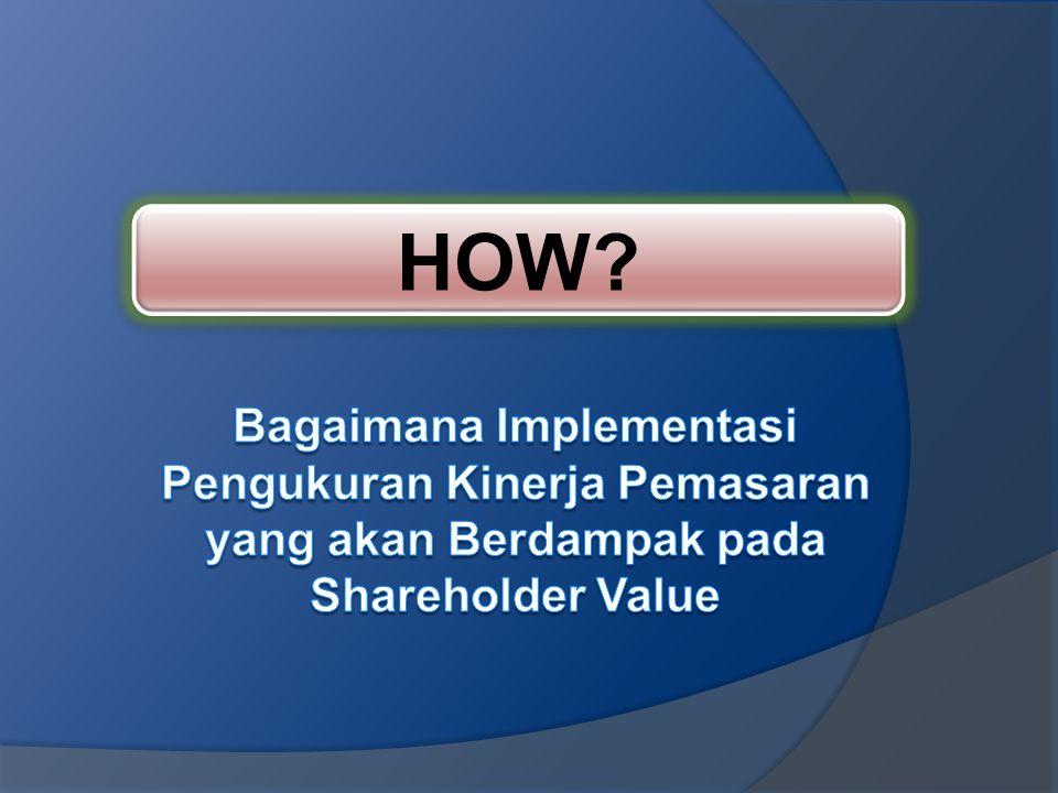 HOW Bagaimana Implementasi Pengukuran Kinerja Pemasaran yang akan Berdampak pada Shareholder Value