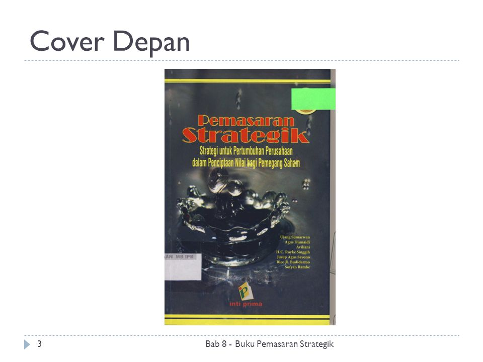 Cover Depan Bab 8 - Buku Pemasaran Strategik