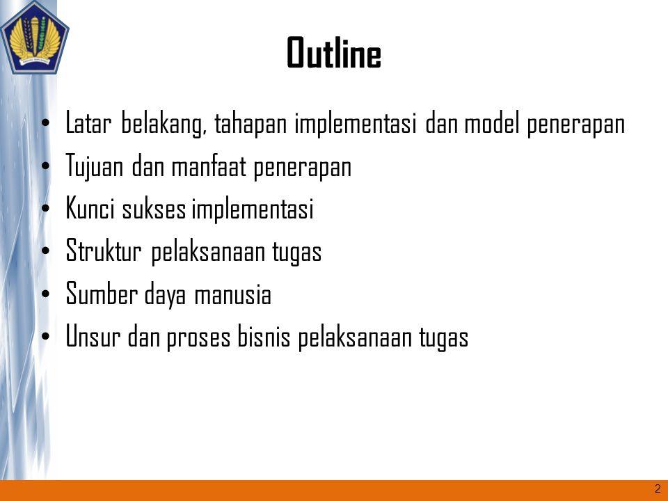 Outline Latar belakang, tahapan implementasi dan model penerapan