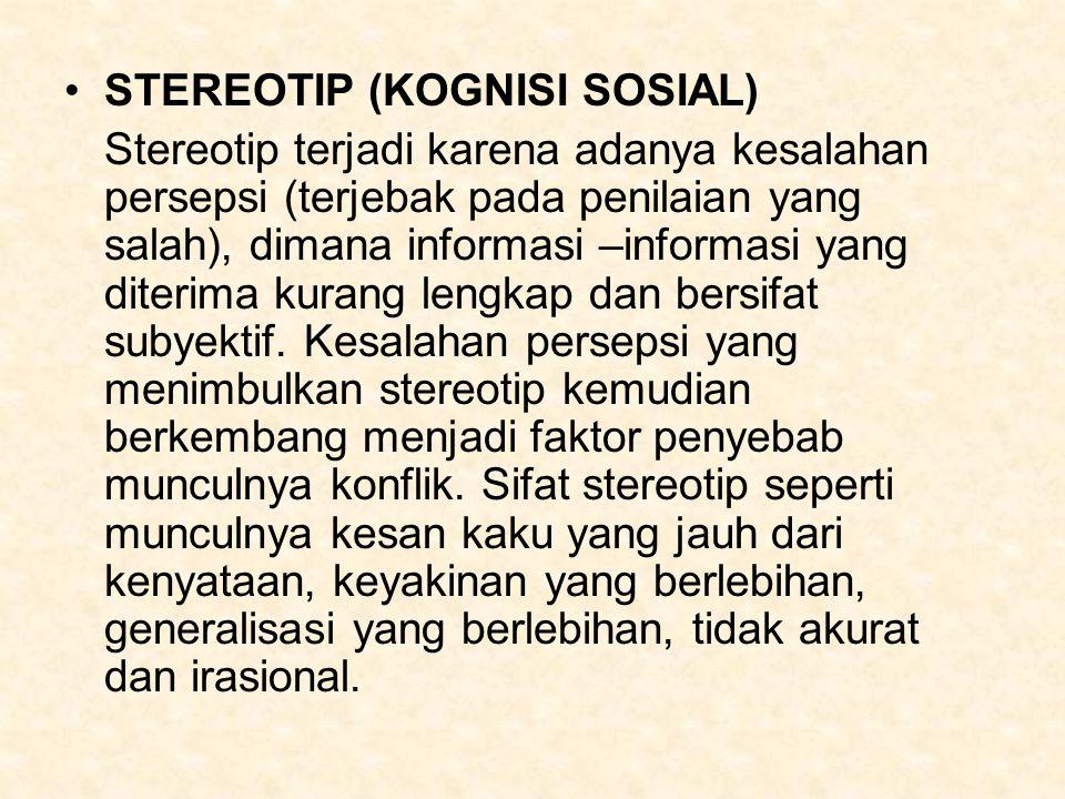 STEREOTIP (KOGNISI SOSIAL)