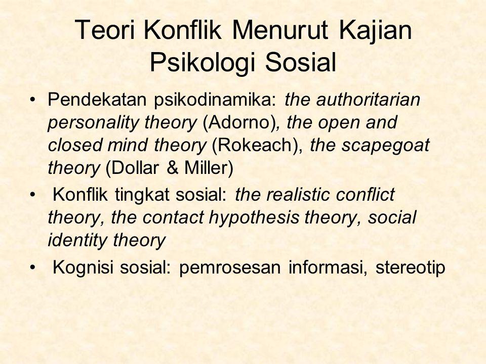 Teori Konflik Menurut Kajian Psikologi Sosial