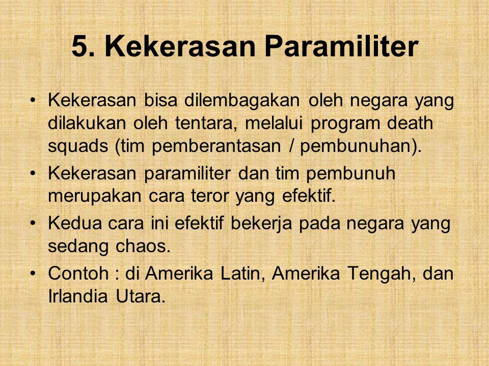 5. Kekerasan Paramiliter