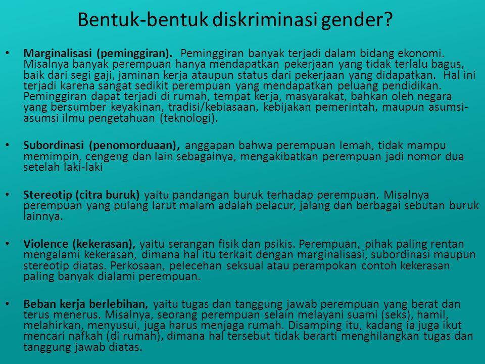 Bentuk-bentuk diskriminasi gender