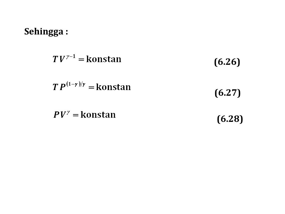 Sehingga : (6.26) (6.27) (6.28)