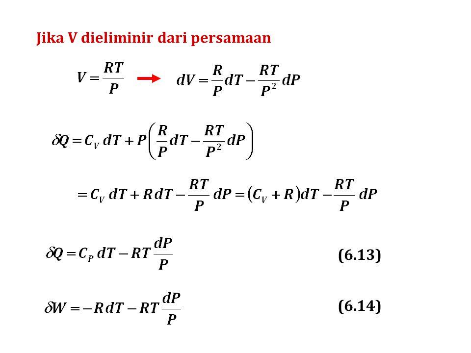 Jika V dieliminir dari persamaan