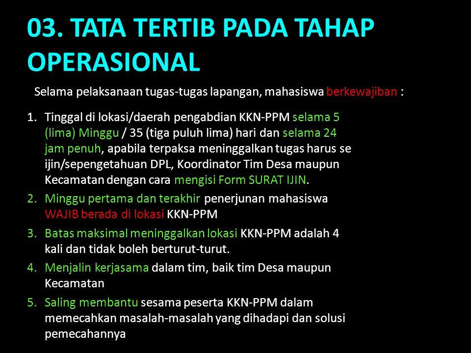 03. TATA TERTIB PADA TAHAP OPERASIONAL