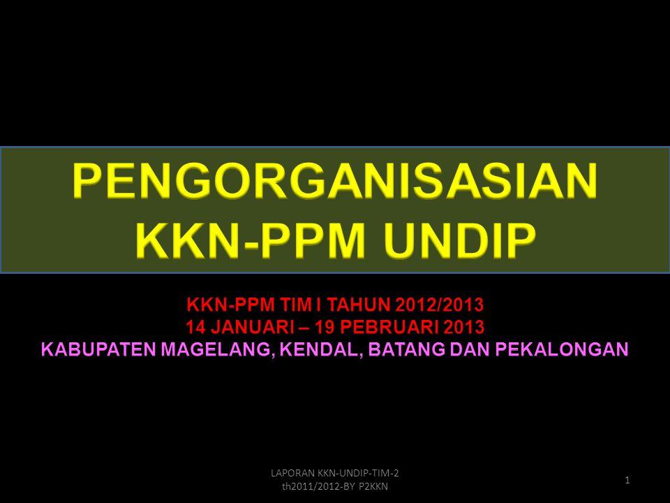 PENGORGANISASIAN KKN-PPM UNDIP