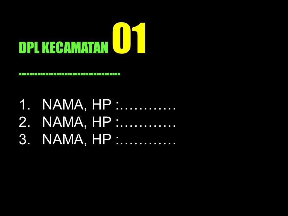 DPL KECAMATAN 01 ………………………………..