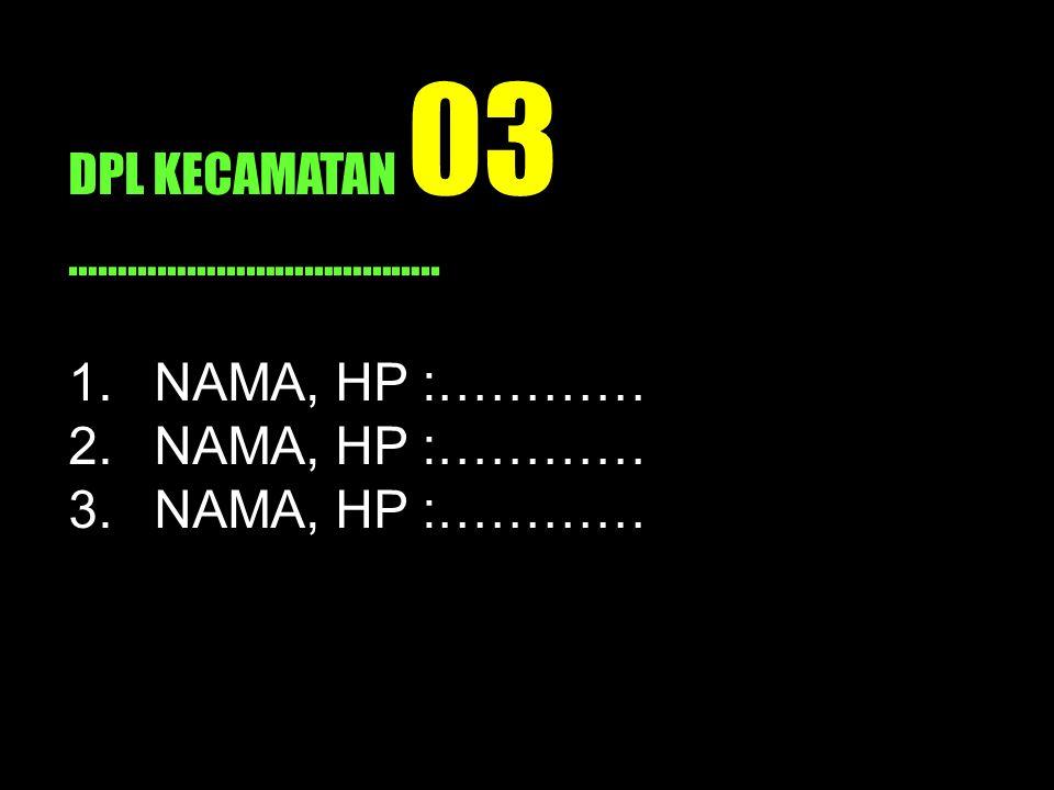 DPL KECAMATAN 03 ………………………………..