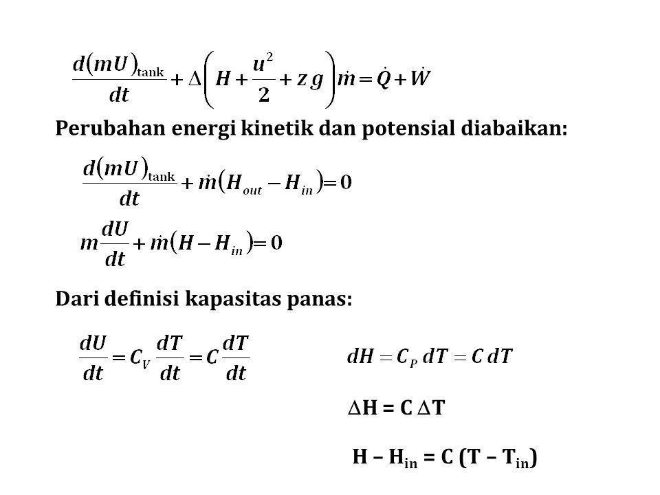 Perubahan energi kinetik dan potensial diabaikan: