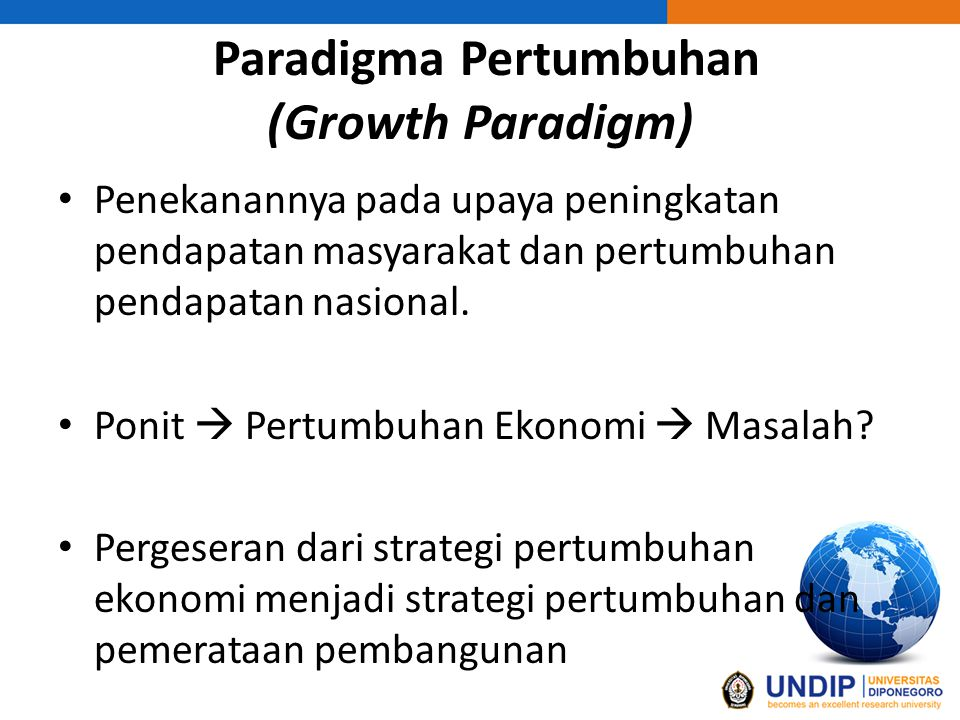 Paradigma Pertumbuhan (Growth Paradigm)