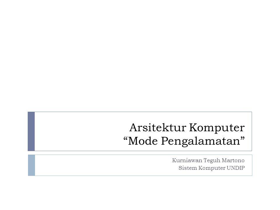 Arsitektur Komputer Mode Pengalamatan