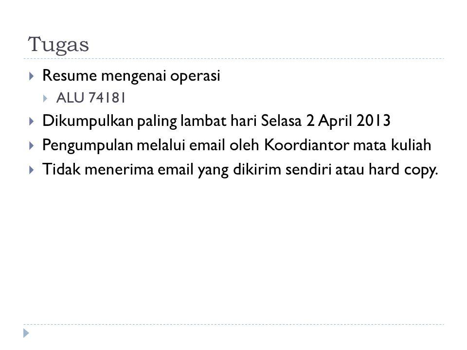 Tugas Resume mengenai operasi