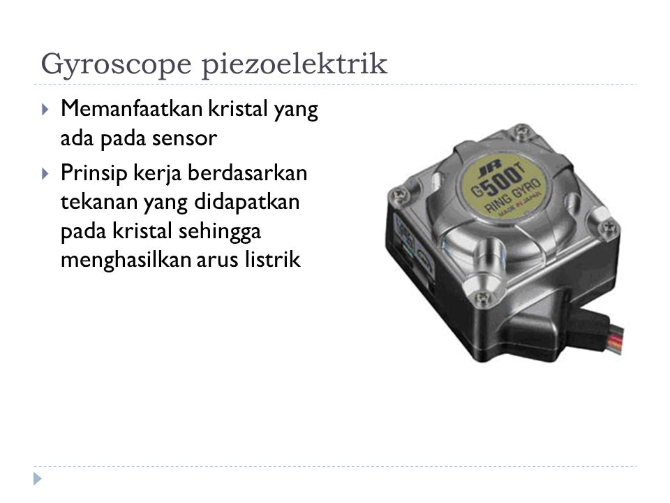 Gyroscope piezoelektrik