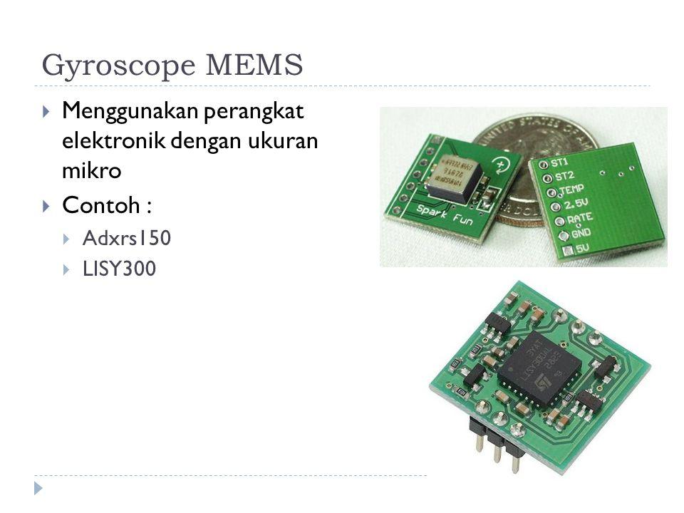 Gyroscope MEMS Menggunakan perangkat elektronik dengan ukuran mikro