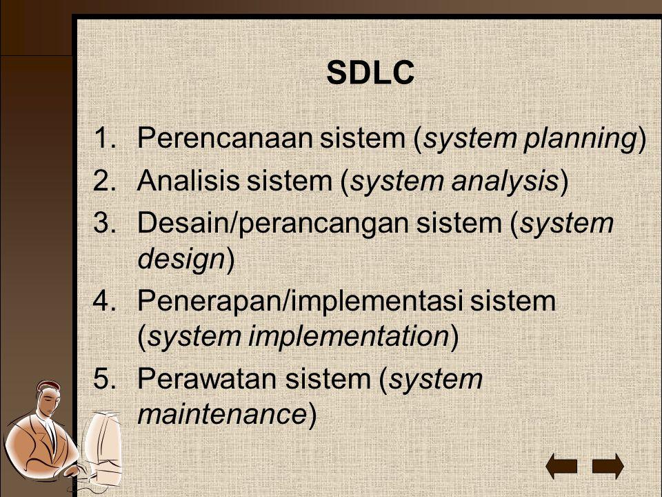 SDLC Perencanaan sistem (system planning)