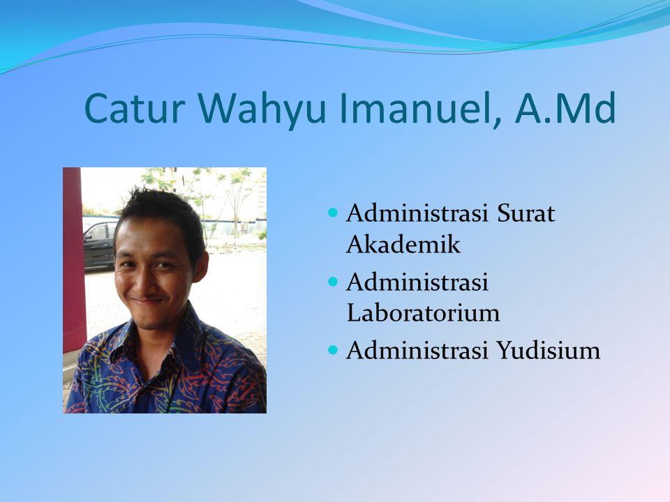 Catur Wahyu Imanuel, A.Md