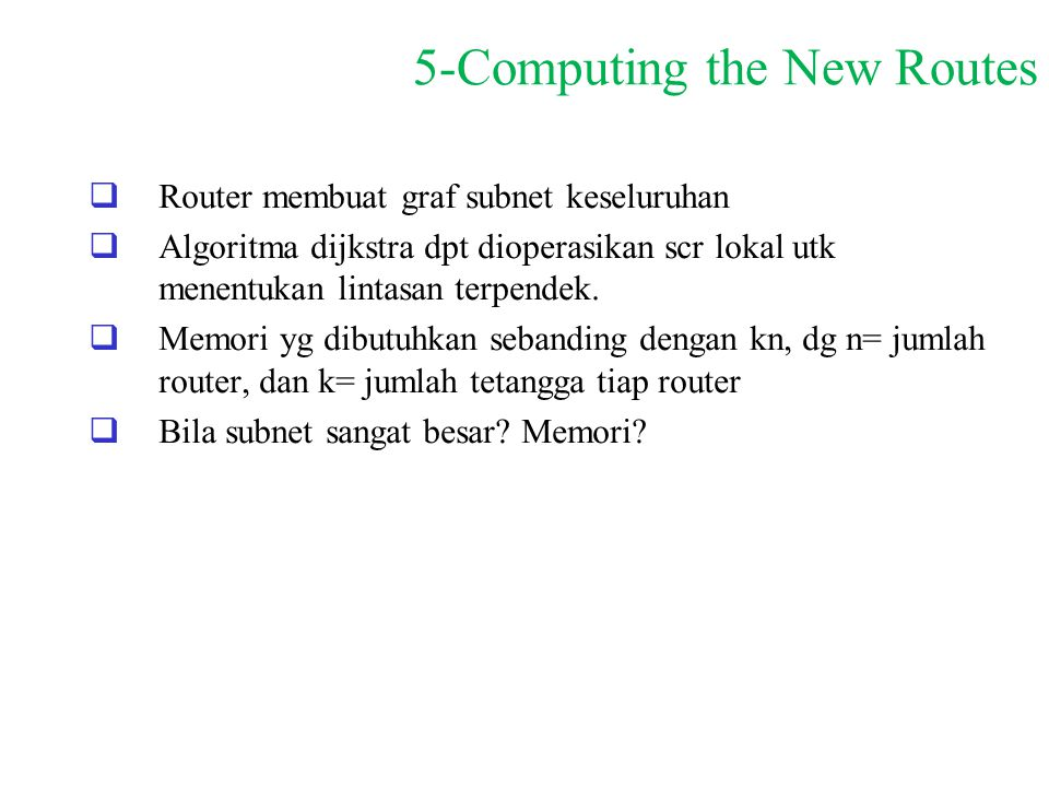 5-Computing the New Routes