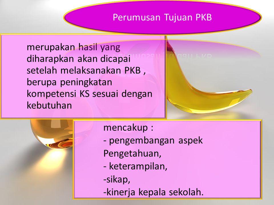 merupakan hasil yang diharapkan akan dicapai setelah melaksanakan PKB , berupa peningkatan kompetensi KS sesuai dengan kebutuhan
