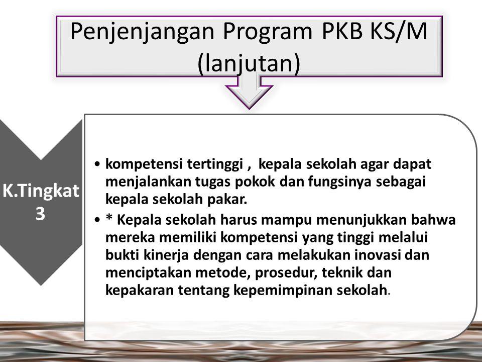 Penjenjangan Program PKB KS/M (lanjutan)