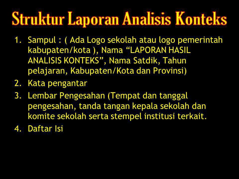 Struktur Laporan Analisis Konteks