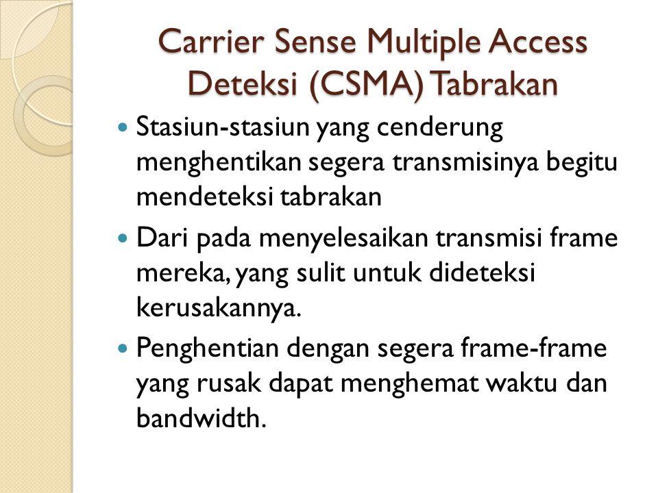 Carrier Sense Multiple Access Deteksi (CSMA) Tabrakan
