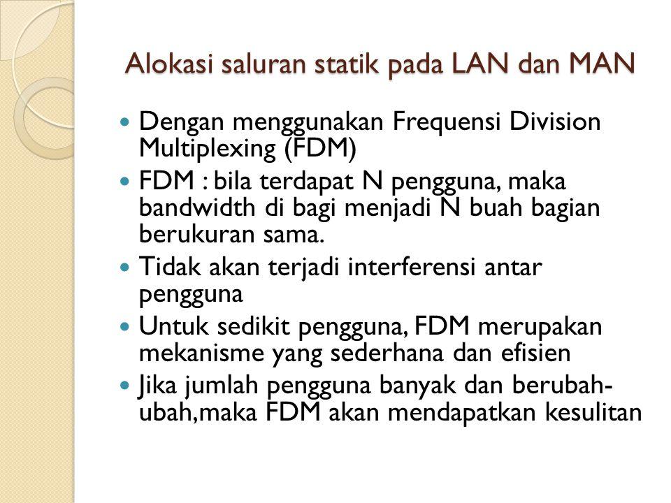 Alokasi saluran statik pada LAN dan MAN