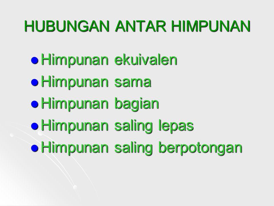 HUBUNGAN ANTAR HIMPUNAN