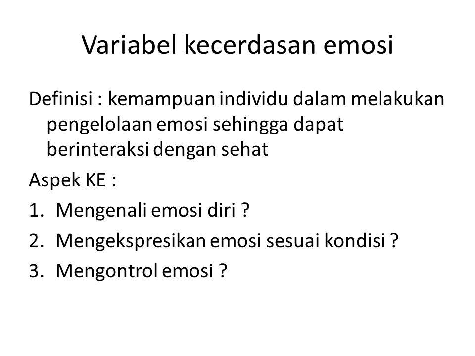 Variabel kecerdasan emosi