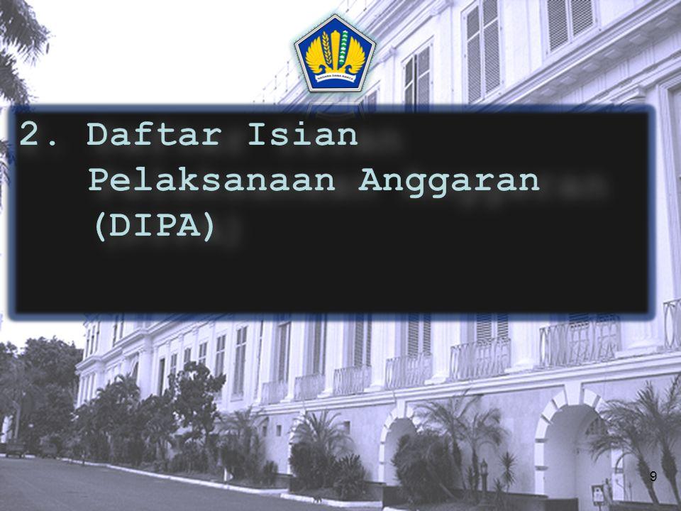 2. Daftar Isian Pelaksanaan Anggaran (DIPA)
