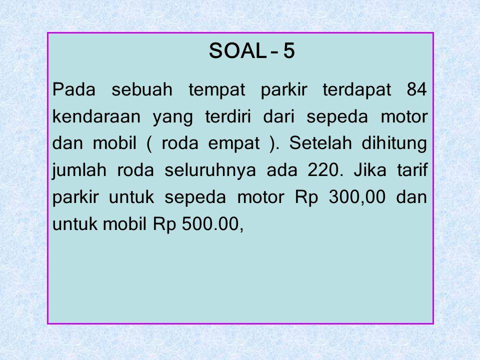 SOAL – 5