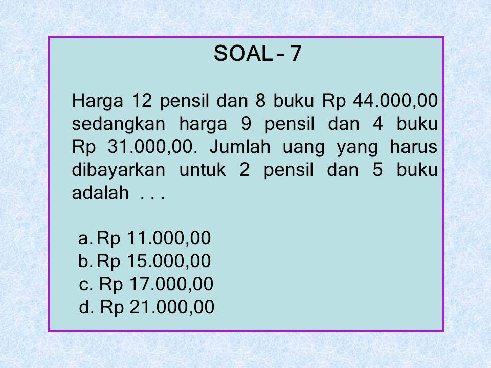 SOAL – 7