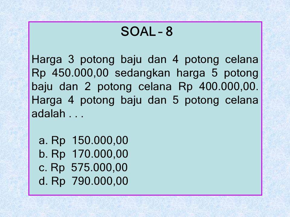 SOAL – 8