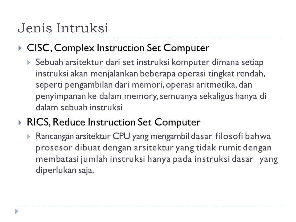 Jenis Intruksi CISC, Complex Instruction Set Computer