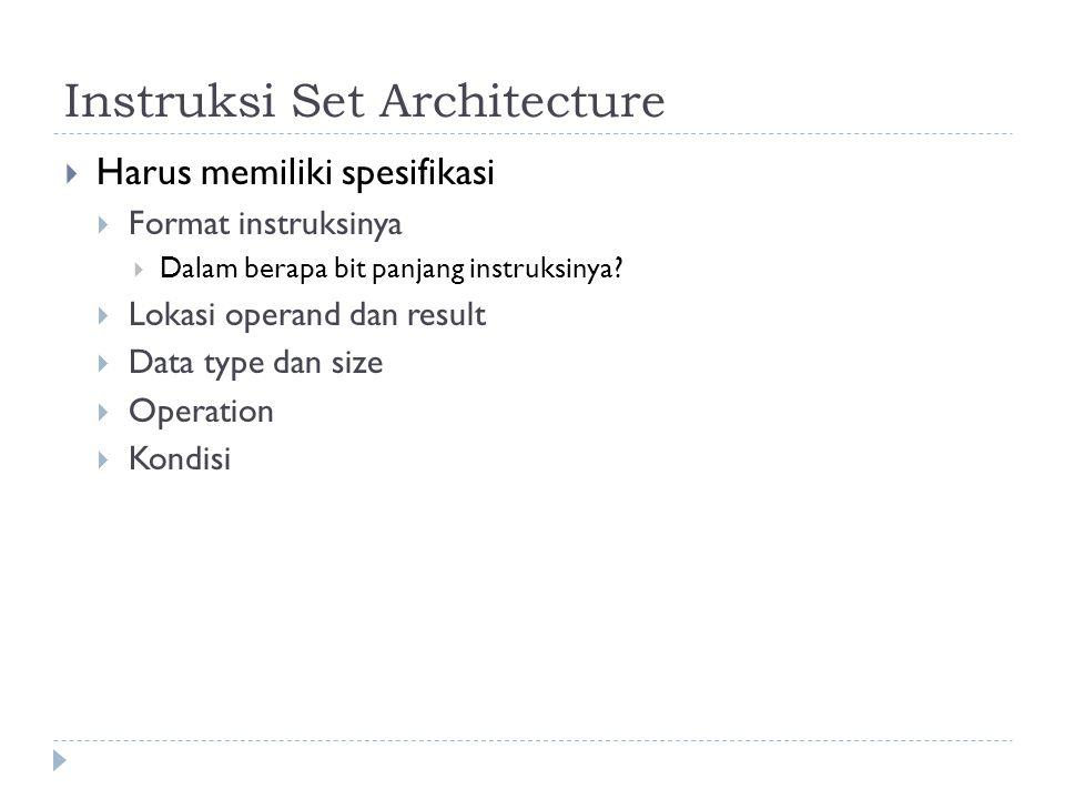 Instruksi Set Architecture
