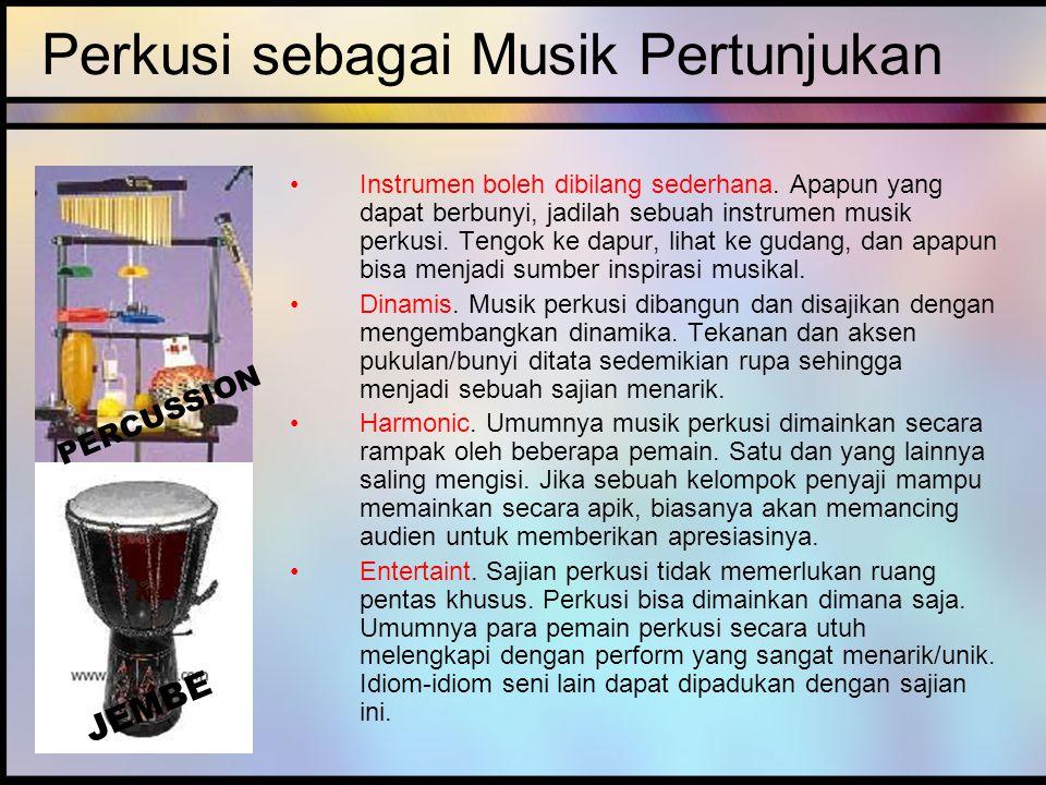 Perkusi sebagai Musik Pertunjukan