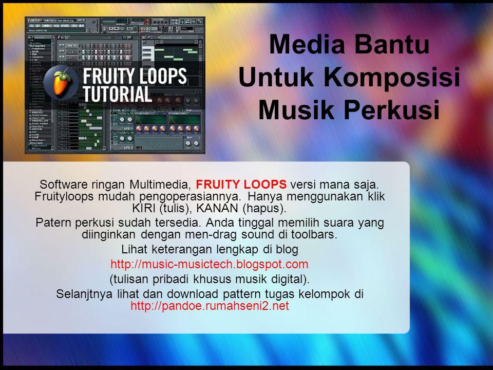 Media Bantu Untuk Komposisi Musik Perkusi
