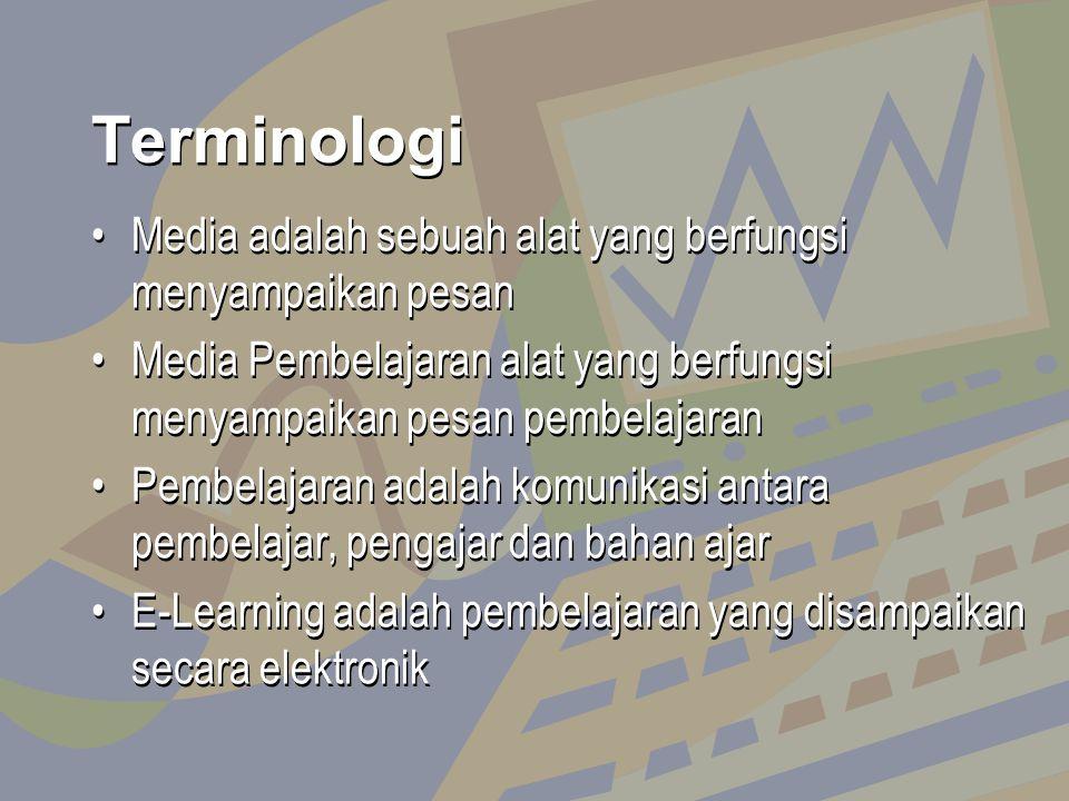 Terminologi Media adalah sebuah alat yang berfungsi menyampaikan pesan