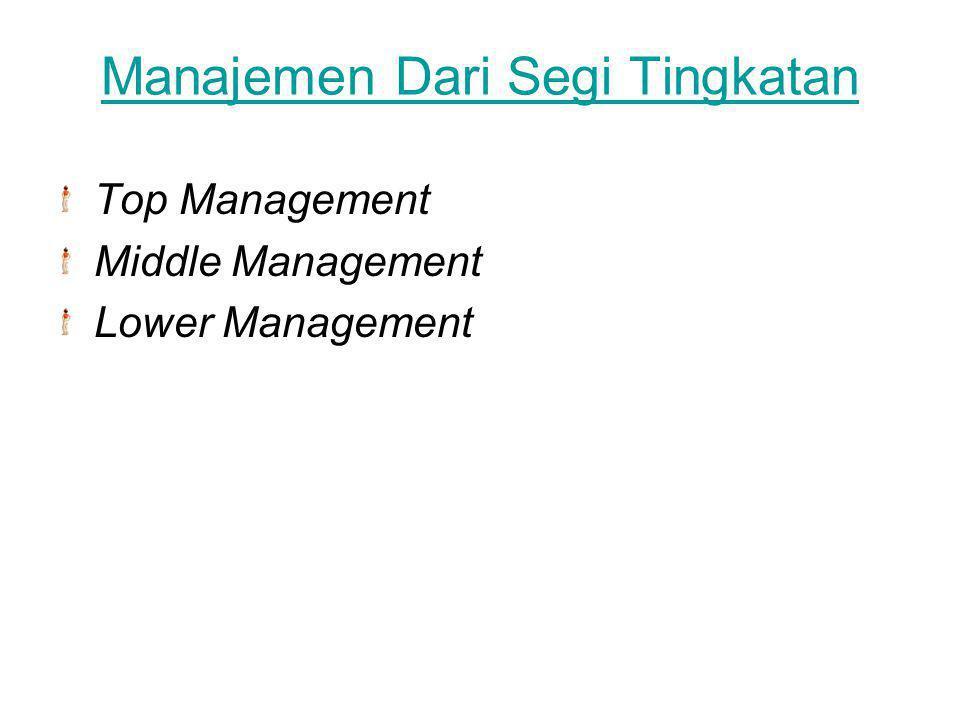 Manajemen Dari Segi Tingkatan