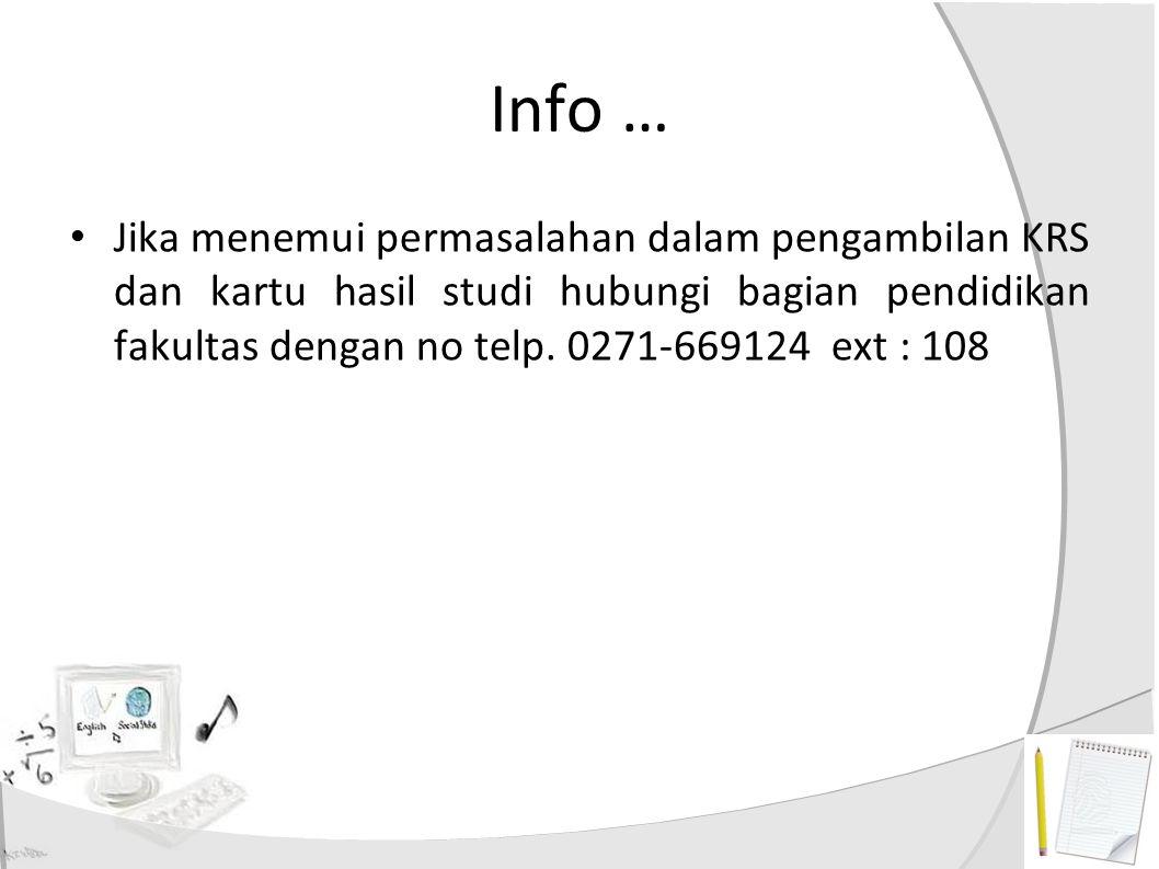 Info …