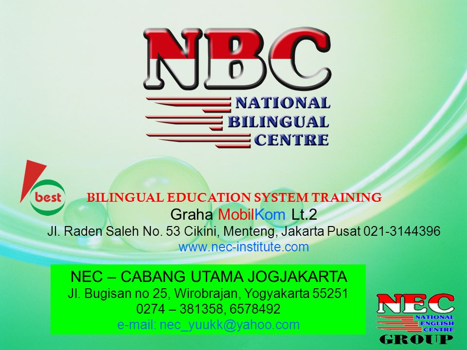 NEC – CABANG UTAMA JOGJAKARTA